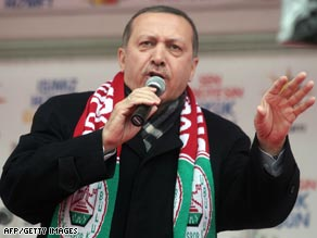 Recep Tayyip Erdogan earlier this year on the campaign trail.