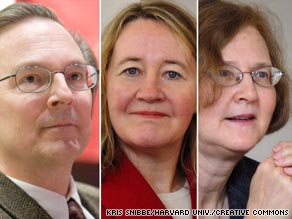 Jack Szostak, from left, Carol Greider and Elizabeth Blackburn will share the $1.4 million prize.