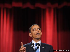 U.S. President Obama delivers a key address at the Cairo University campus in June, 2009