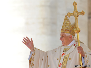 Pope Benedict XVI canonized five new saints Sunday in a Mass at St. Peter's Basilica in Vatican City.