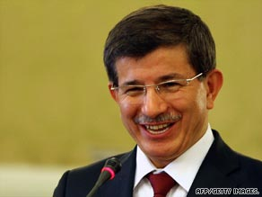 "Ahmet Davutoglu said Turkey planned to create a ""new atmosphere in Turkish-Israeli relations."""