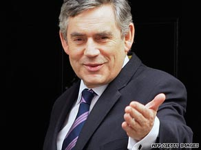 Gordon Brown's announcement was questioned by opposition leader David Cameron.