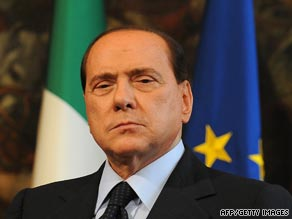 Prime Minister Silvio Berlusconi at a press conference in Rome on Oct. 7, 2009