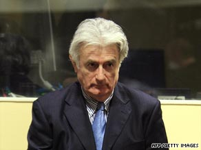 Radovan Karadzic wrote to the court to say he would not attend the trial.