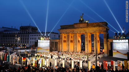World leaders gathered in the German capital Monday to mark 20 years since the collapse of the Berlin Wall.