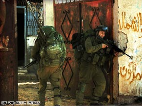 A photo provided by the Israel Defense Forces shows Israeli paratroopers in Gaza on Thursday.