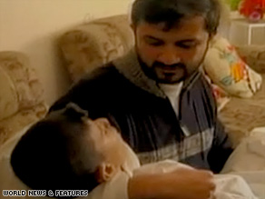 In the video, camerman Ashraf Mashharawi is seen holding his brother.