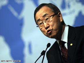 U.N. Secretary-General Ban Ki-moon warned that the cease-fire in Gaza was very fragile.