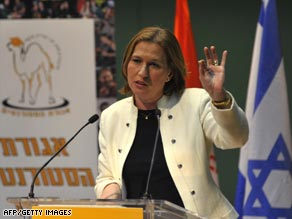 Tzipi Livni is campaigning for the chance to be Israel's first female prime minister since Golda Meir.