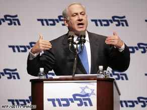 "Likud leader Benjamin Netanyahu has called for Hamas to be ""uprooted"" from Gaza."