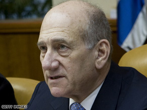 Israeli Prime Minister Ehud Olmert says Israel will respond if rocket attcks from Gaza don't stop.