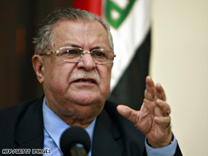 The Iraqi presidential council, including Iraqi President Jalal Talabani, still must approve the spending plan.