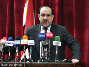 Prime Minister Nuri al-Maliki reaffirmed he would pardon ex-Baathists who haven't been linked to serious crimes.