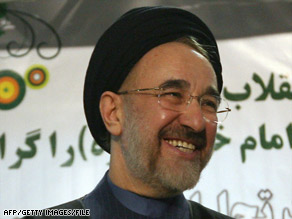 Mir Hossein Moussavi, in a 2000 photo, will have Khatami's support in the election, the agency reports.