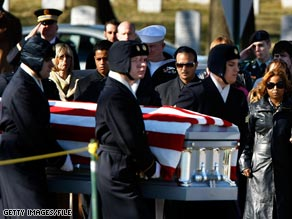 Remains of Staff Sgt. Alex Jimenez and Spc. Byron Fouty were buried in February at Arlington National Cemetery.