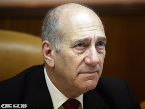 "Israeli Prime Minister Ehud Olmert said Sunday at a Cabinet meeting that it was ""a  miracle"" no one was hurt."
