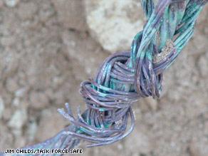 These wires installed in Iraq are some of the most important to ensure safety. They all need to be replaced.
