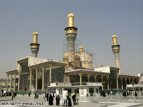 The Imam Musa al-Kadhim shrine in Baghdad, Iraq, seen in 2007, is holy to Shiite Muslims.