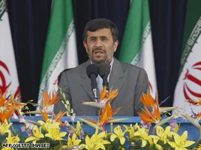 Mahmoud Ahmadinejad delivered his latest speech to mark the country's Army Day.