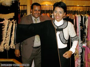 Ahmed shops for an abbaya in a high-end store in Jeddah, Saudi Arabia.