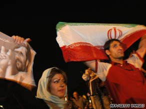 A pro-Mahmoud Ahmadinejad rally also drew big crowds.