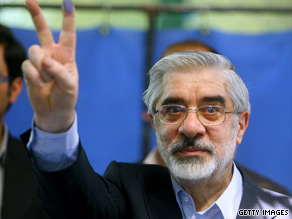 Mir Hossein Moussavi lost last week's Iranian presidential election, according to official numbers.