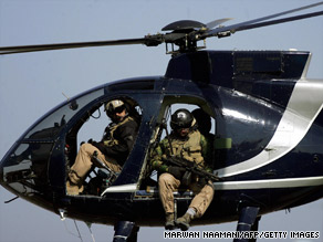 Private contractor Xe flies military personnel in Afghanistan and helps train Afghan border police.