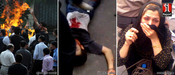 Protesters beaten, tear-gassed in streets