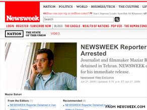 Newsweek calls for the immediate release of Maziar Bahari on its Web site Sunday.