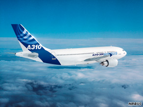 An Airbus 310 like the one pictured has crashed while on the way to the capital of Comoros.