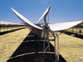 Twelve of Europe's largest companies have banded together to put sun collector plants in the desert.