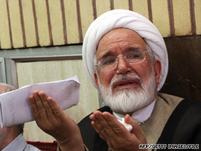 "Mehdi Karrubi reportedly said the government's claims that it hadn't attacked his supporters are ""astonishing."""