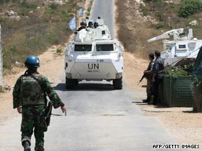 U.N. peacekeepers were investigating reports of an explosion in a Hezbollah stronghold.