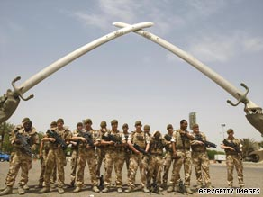 Nearly all of Britain's troops in Iraq will have left by the week's end.