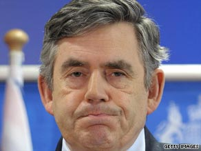 British Prime Minister Gordon Brown has told the families of two hostages that they are probably dead.