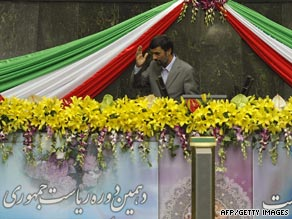 Some protesters were arrested for contesting the election of Iranian President Mahmoud Ahmadinejad.