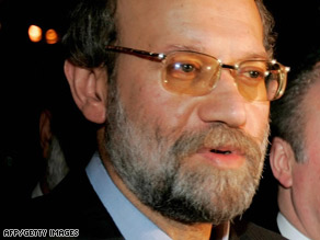 "Ali Larijani challenged an opposition politician to ""present evidence of such outrages"" about detainee abuse."