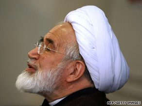 Mehdi Karrubi, pictured, ran against hardline President Mahmoud Ahmadinejad in the June 12 election.