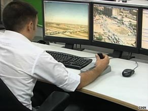 Security cameras watch the streets of Baghdad, but the center's director says it has a long way to go.