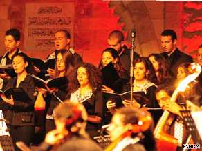 The Palestine Youth Orchestra performing at the 2009 Beiteddine Festival in Lebanon.