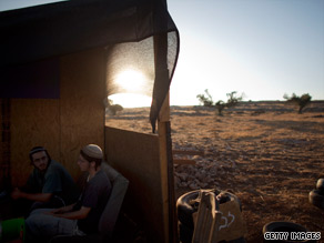 Israeli settlers in an outpost last month in the West Bank, where new housing units are a contentious issue.