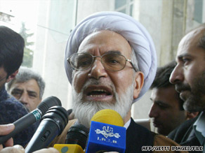 Mehdi Karrubi, seen in 2004, sought Iran's presidency in the June 12 election.