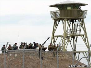 Iranian soldiers are shown in the uranium enrichment facility in Natanz, 300 kms south of Tehran, in 2006.