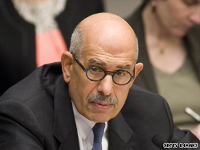 IAEA's Mohamed El Baradei says he does not think Iran has an ongoing nuclear weapons program.