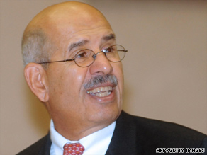 IAEA Director General Mohamed ElBaradei will discuss Iran's newly revealed enrichment facility.