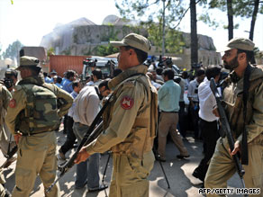 Militant attacks, such as this one in Islamabad on Monday, are turning the Pakistani population against jihadists.