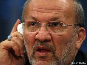 Iranian Foreign Minister Manouchehr Mottaki says Iran has proof of U.S. involvement in a researcher's disappearance.