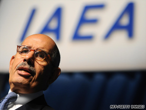 IAEA chief Mohammed ElBaradei said Iran's low-enriched uranium would be sent abroad and enriched.