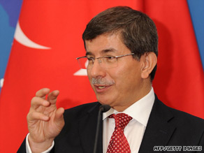 "Foreign Minister Ahmet Davutoglu says, ""We hope that the situation in Gaza will be improved."""