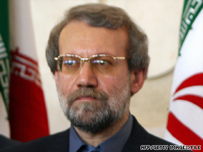 Iranian parliament Speaker Ali Larijani calls a suicide bombing 'the result of the U.S. actions.